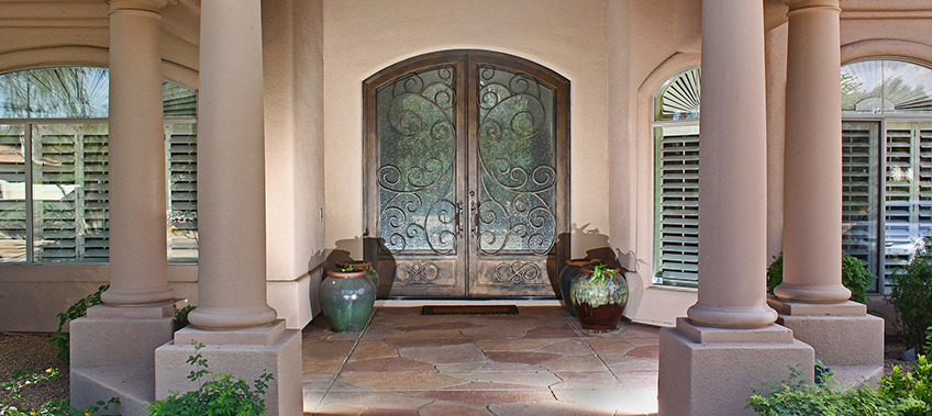 First Impression Custom Iron Security Door