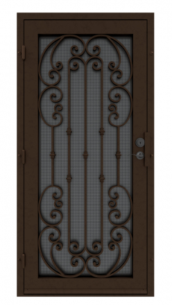 First Impression Ironworks Signature Series Security Door with scrolls