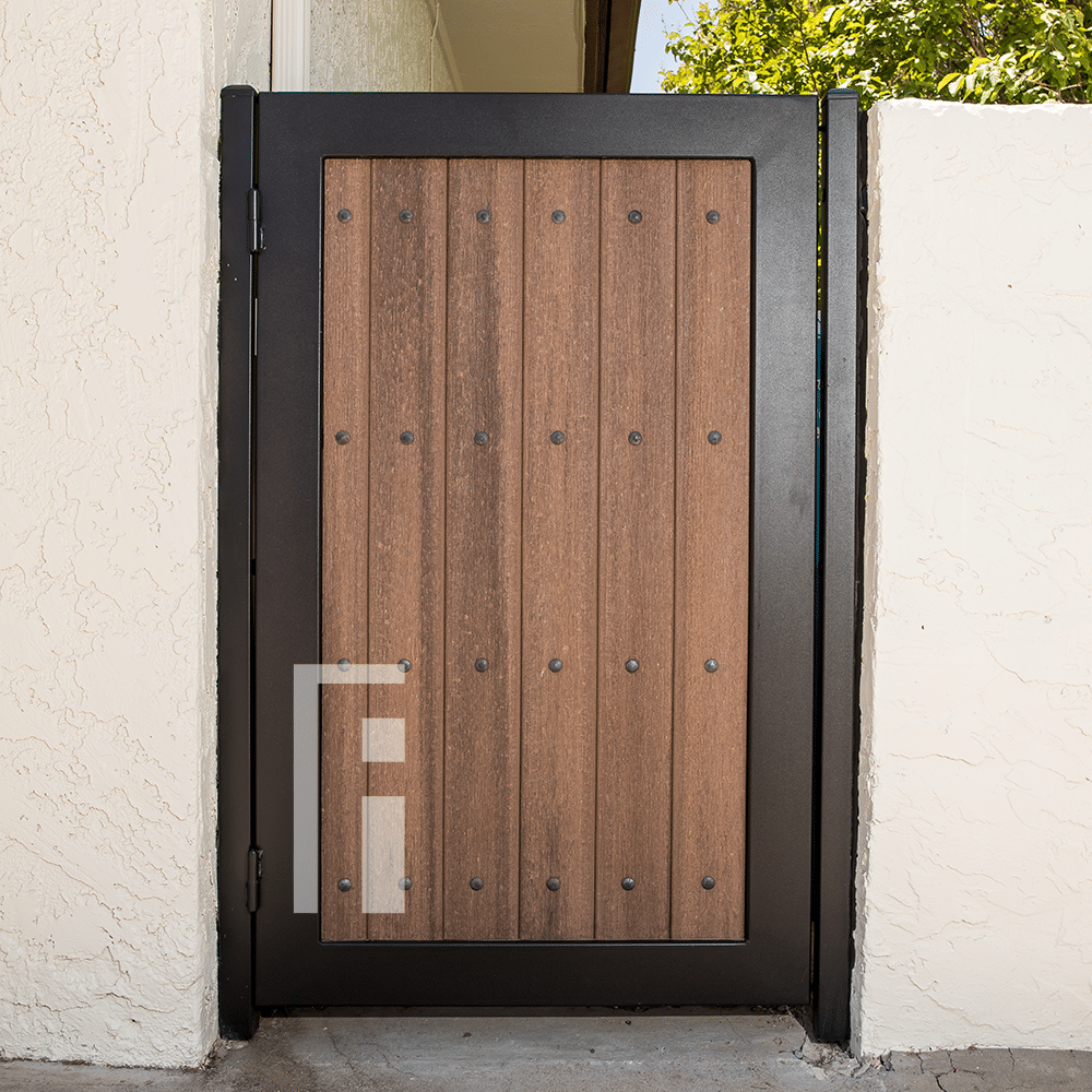 Iron Amp Composite Wood Side Gate First Impression Ironworks