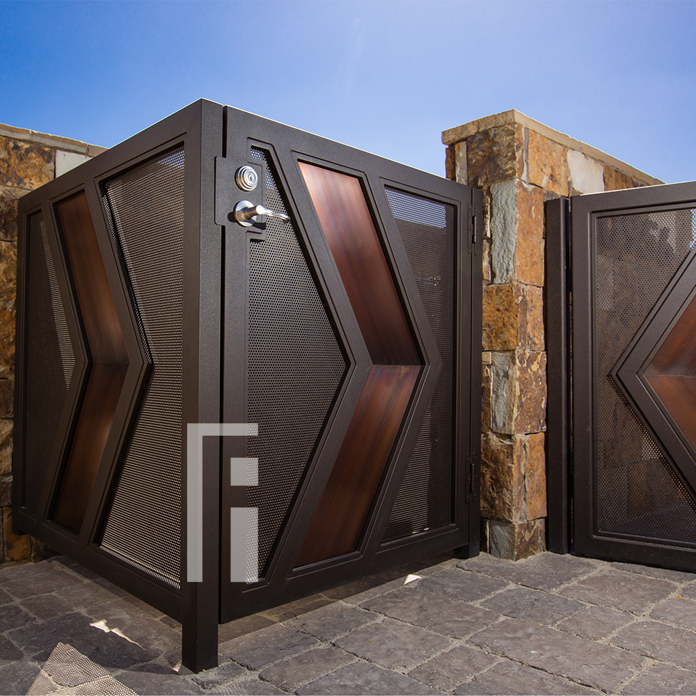 Modern Custom Iron Gate First Impression Ironworks