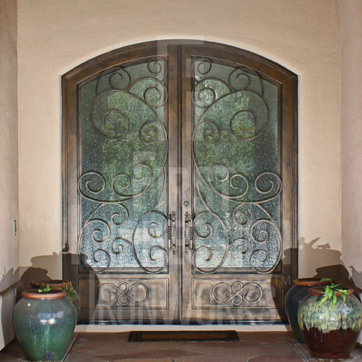 Barcelona French Iron Entry Door
