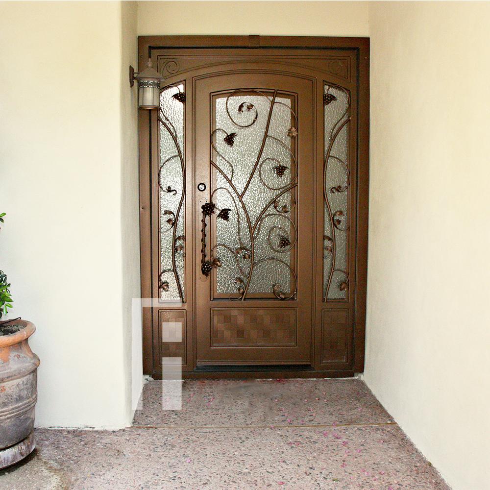 Vineyard Iron Entry Door First Impression Ironworks