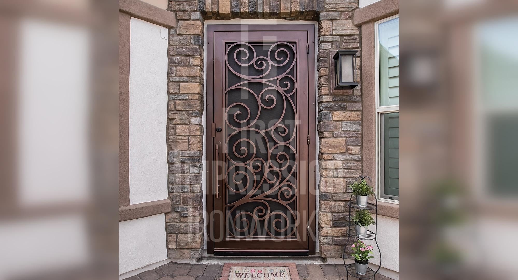 Security Doors Storm Doors Custom Iron Security Door
