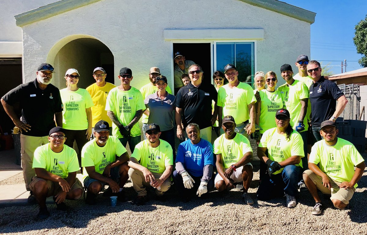First Impression Ironworks Team at Habitat for Humanity Build - June 2019