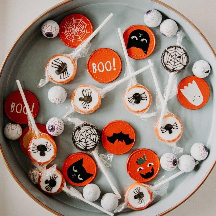 Halloween treats in big bowl