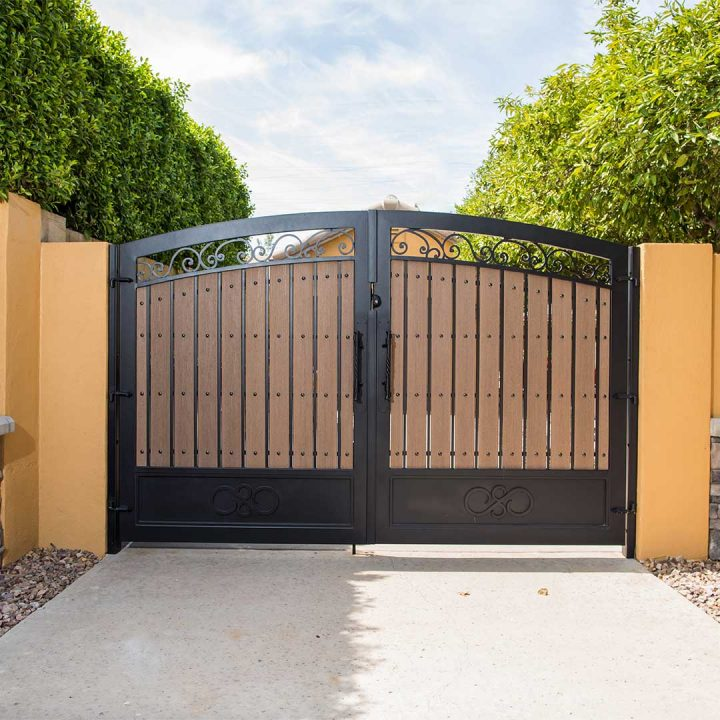 First Impression Ironworks Iron and Composite Wood Gate