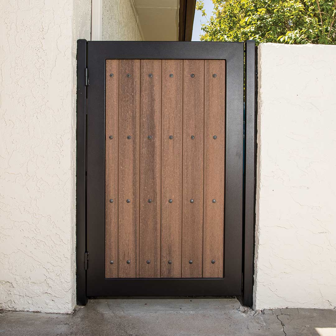 Composite Wood and Iron Side Gate