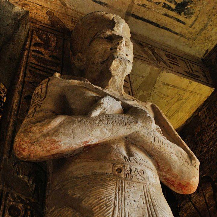 large ancient Egyptian sculpture
