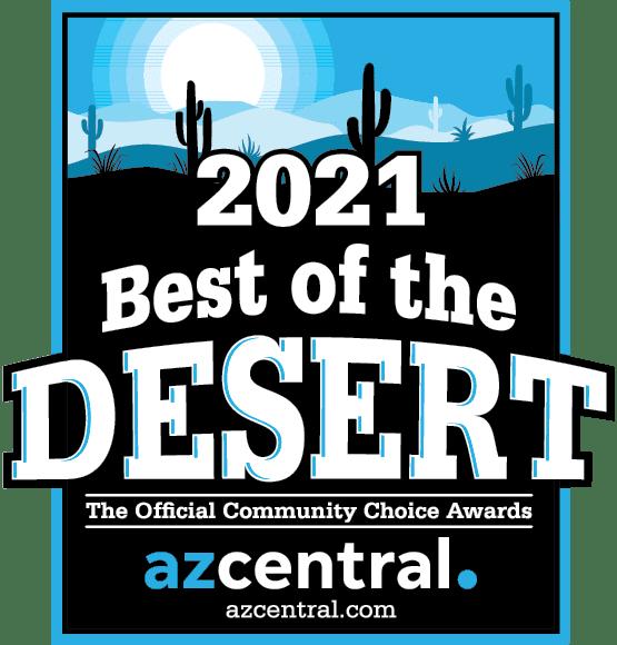 Logo for the 2021 Best of the Desert Community Choice Awards
