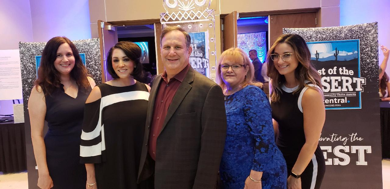 First Impression Ironworks team members at the Best of the Desert awards gala
