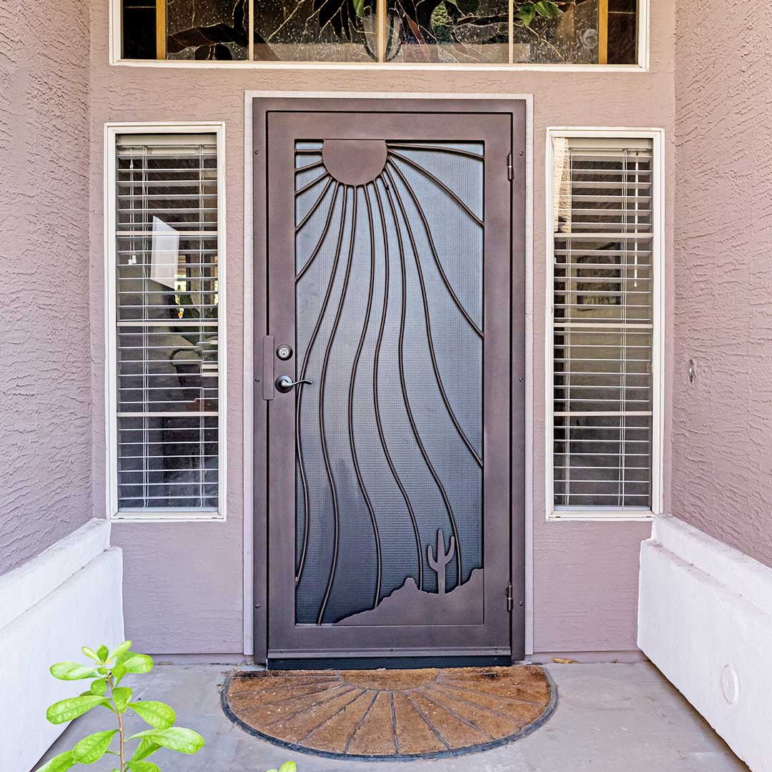Beautiful Iron Security Door from First Impression Ironworks