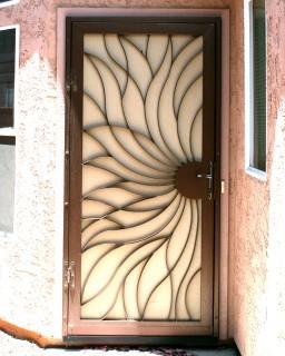 Swirl & Security Doors | Storm Doors | Custom Iron Security Screen Doors